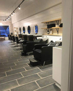 Inside Hair Canvas Salon in Milford, CT
